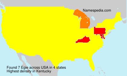 Surname Egie in USA