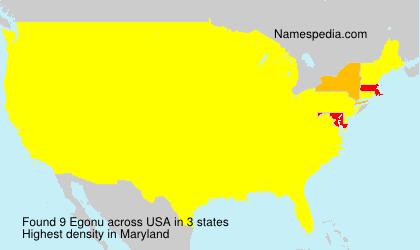 Surname Egonu in USA