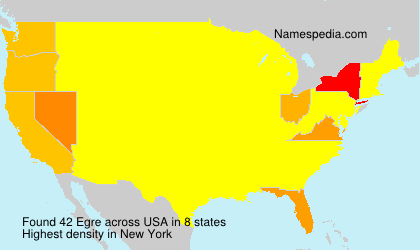Surname Egre in USA