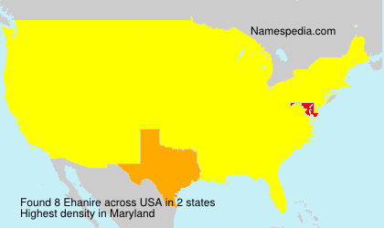 Surname Ehanire in USA