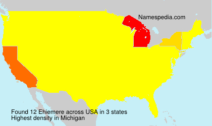 Surname Ehiemere in USA