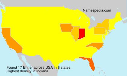 Surname Ehner in USA