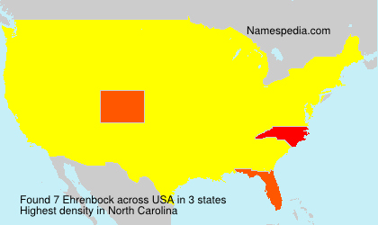 Surname Ehrenbock in USA