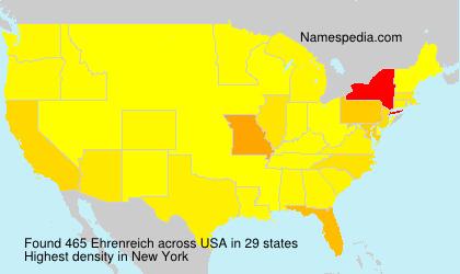 Surname Ehrenreich in USA