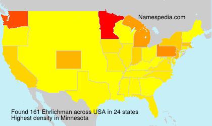 Surname Ehrlichman in USA