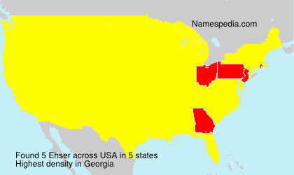 Surname Ehser in USA