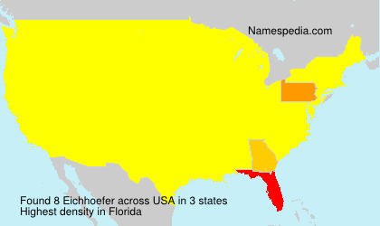 Surname Eichhoefer in USA