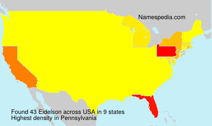 Surname Eidelson in USA
