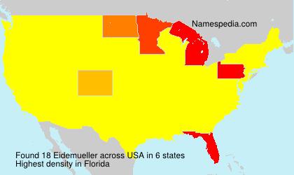 Familiennamen Eidemueller - USA