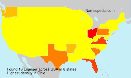 Surname Eiginger in USA