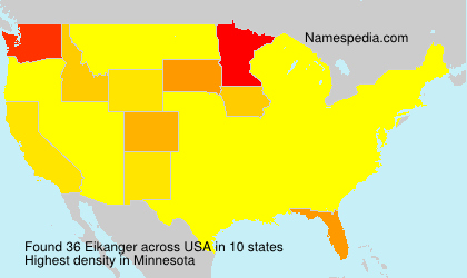 Surname Eikanger in USA