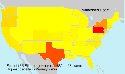 Surname Eilenberger in USA