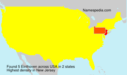 Surname Einthoven in USA