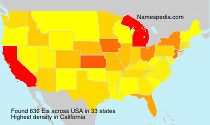 Surname Eis in USA