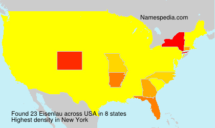 Surname Eisenlau in USA