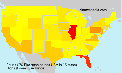 Surname Eiserman in USA