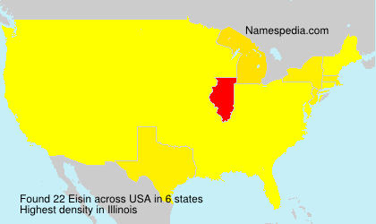 Surname Eisin in USA