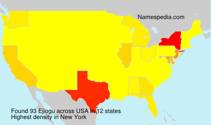 Surname Ejiogu in USA