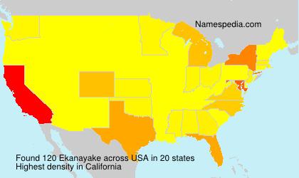 Surname Ekanayake in USA