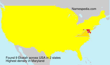 Surname Ekatah in USA