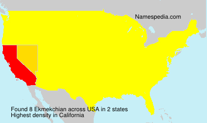 Surname Ekmekchian in USA