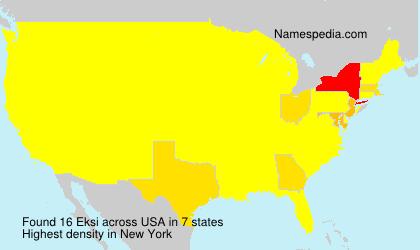 Surname Eksi in USA