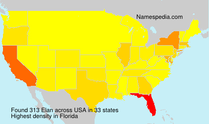 Surname Elan in USA