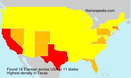 Familiennamen Elansari - USA