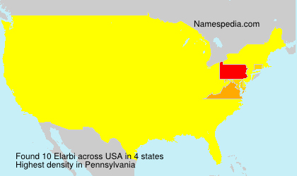 Surname Elarbi in USA