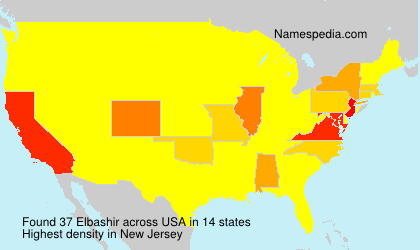 Surname Elbashir in USA
