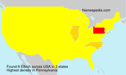 Surname Elbich in USA