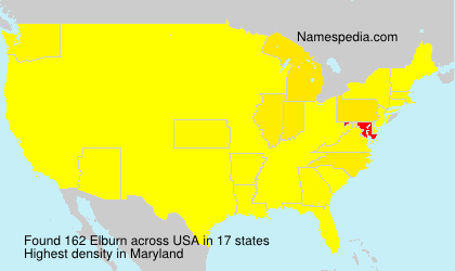 Surname Elburn in USA