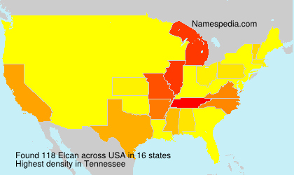 Surname Elcan in USA