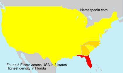Surname Elcoro in USA