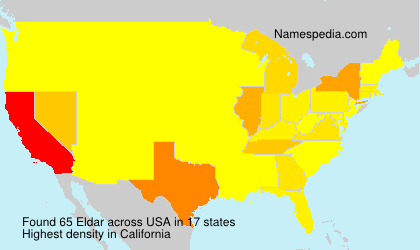 Surname Eldar in USA