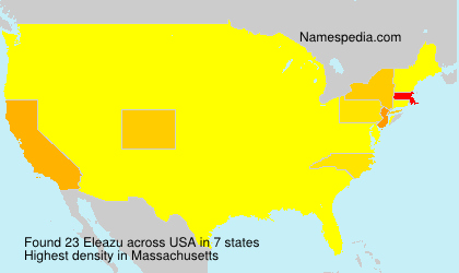 Surname Eleazu in USA