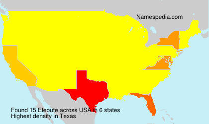 Surname Elebute in USA