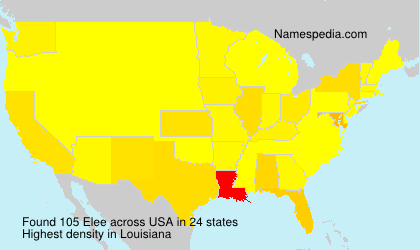 Surname Elee in USA