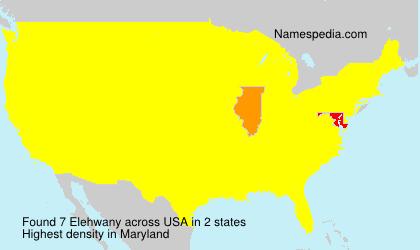 Surname Elehwany in USA