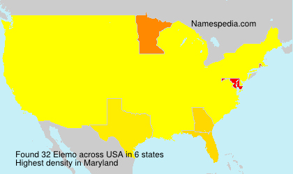 Surname Elemo in USA