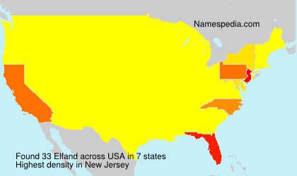 Surname Elfand in USA