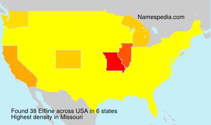 Familiennamen Elfline - USA