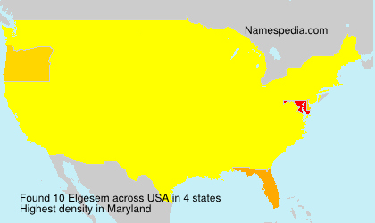 Surname Elgesem in USA