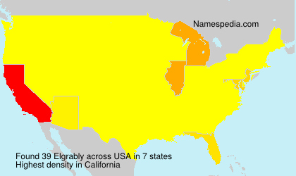 Surname Elgrably in USA