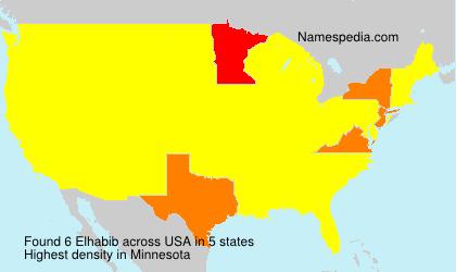 Familiennamen Elhabib - USA