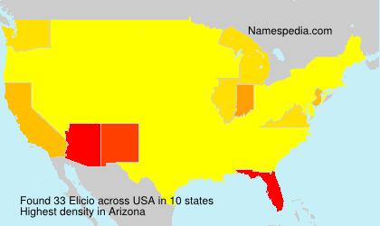 Surname Elicio in USA