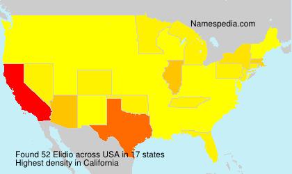 Familiennamen Elidio - USA