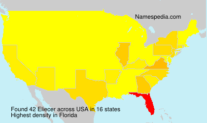 Surname Eliecer in USA
