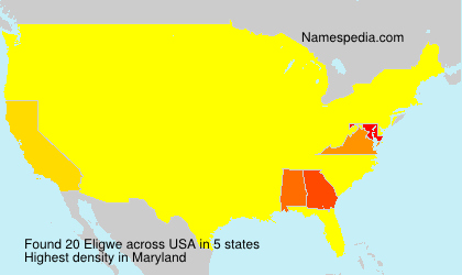 Surname Eligwe in USA