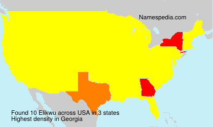 Surname Elikwu in USA